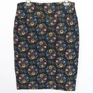 Black LuLaRoe Cassie skirt Sz L